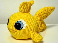 Crochet Pattern Goldfish Finley  Amigurumi  PDF Cute Gold Fish Genuine Eyes Stuff Toy For Children Animals Embroider EBook