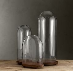 1920's French Glass Cloches Blown-glass domes on elevated ball feet $69-$99 #Restoration_Hardware