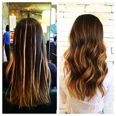 Balayage hair by theresa przybyla
