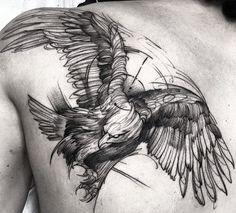 "13.6k Likes, 54 Comments - Fredão Oliveira (@fredao_oliveira) on Instagram: ""Eagle Feito na @inkonik_tattoo_studio #electricink"""