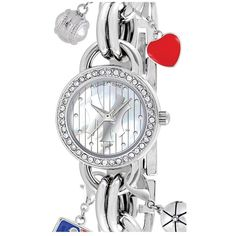 Women's Game Time Watches 'MLB - New York Yankees' Charm Bracelet... ($59) ❤ liked on Polyvore featuring jewelry, watches, logo watches, game time watches, charm watches and charm jewelry