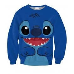 STITCH Bluza Full Print 3D Bez Kaptura