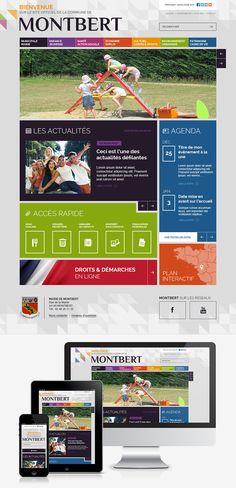 #Web #Webdesign #Responsive #Mairie #Ville #Colterr: le nouveau site Internet de la ville de Montbert (44) : www.montbert.fr by @elysta44
