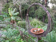 Woven garden art