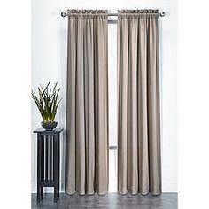 Essential Home- -Microfiber Panel Taupe Curtain