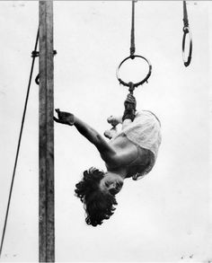 There is something so poetic about  trapeze swingers. Intentionally and  gracefully, they spend their entire  lives barely hanging on.