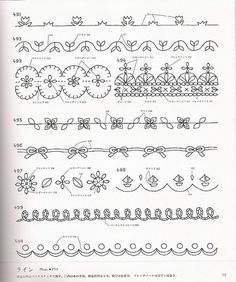 I ❤ embroidery . . . borders