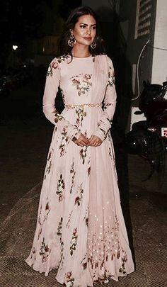 //this pale pink floral lehenga from Mahima Mahajan