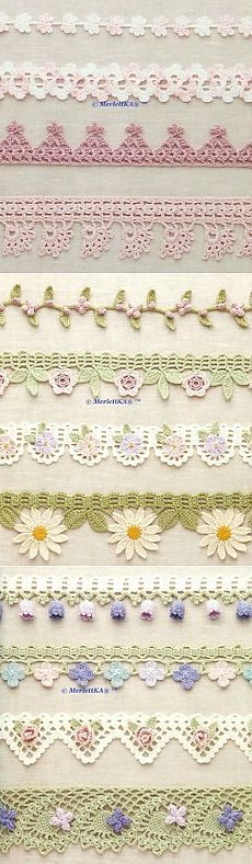 Crochet Stitches Patterns Lace Products Ideas For 2019 Crochet Boarders, Crochet Edging Patterns, Crochet Lace Edging, Lace Patterns, Thread Crochet, Filet Crochet, Crochet Designs, Crochet Flowers, Stitch Patterns