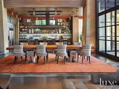 Modern Wood Paneled Living Room   LuxeSource   Luxe Magazine - The Luxury Home Redefined