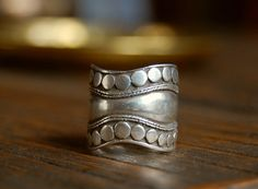 Hippie Boho Ethnic Indian Sterling Silver Band Ring --- Want this so bad