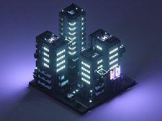Minecraft Plans, Minecraft Designs, Isometric Art, Isometric Design, 3d Pixel, Pixel Art, Urban Landscape, Landscape Design, Cyberpunk City