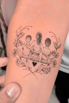 Mommy Tattoos, Tattos, Minimal, Ink, Baby, One Piece Tattoos, Tattoo Ideas, Tattoo Baby, Mother And Daughter Drawing