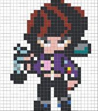 Modele Pixel Art, Star Logo, Crafts For Boys, Pikachu, Pokemon, Perler Beads, Minions, Kawaii, Fan Art