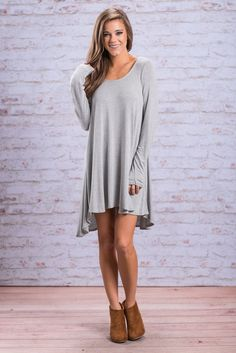 """""""Flawless Flow Tunic, Heather Gray"""" You're going to look just as flawless in this flowy heather gray tunic as you do in all the other colors it comes in #Newarrivals #shopthemint"""