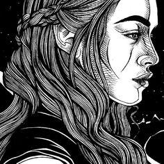 Close up of my Daenerys drawing done in less than a day :) #daenerys #motherofdragons #dragon #queen #khaleesi #targaryen #got #gameofthrones #fanart #sketch_dailies #drawingaday #sketch #drawing #portraitillustration #portrait  #blackandwhite #linedrawing #illustration #art #hair #longhair  #gameofthroneshbo #gotart_  #instaart #srartwork #detail