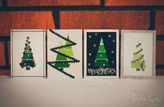 diy joulukortti askartelu liukuväri joulukuusi