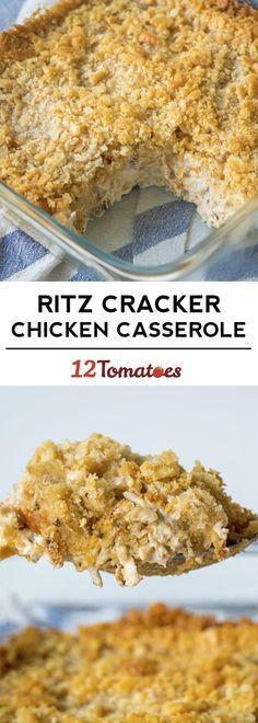 Ritz cracker chicken casserole More