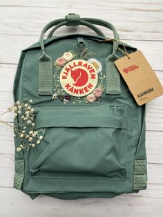 Kanken Embroidery - Boho Bespoke by AfterAugustCo Mochila Kanken, Aesthetic Backpack, Aesthetic Bags, Embroidery Boutique, Embroidery Bags, Kanken Mini, Custom Bags, Backpack Bags, Ideias Fashion