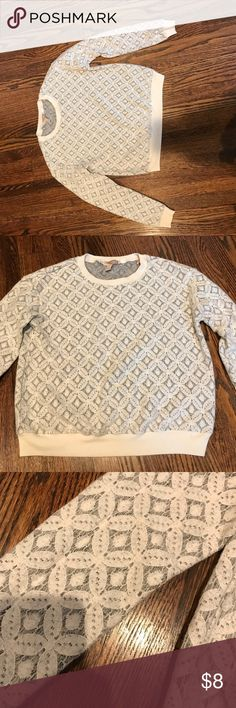 Lace sweater Pretty off-white lace sweater. Barely worn. In excellent condition! Forever 21 Sweaters Crew & Scoop Necks