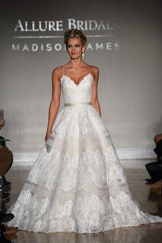 allure bridal maddison james f2017 spagetti strap sweetheart neckline full embellishment classic romantic a  line wedding dress sweep train (014) mv