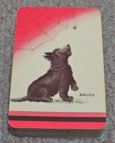 Bruce Scottish Terrier Dog Scottie Dog Vintage Pack of Vintage Playing Cards, Artist Trading Cards, Scottish Terrier, Scottie Dog, Terrier Dogs, Antiques, Collections, Ebay, Antiquities