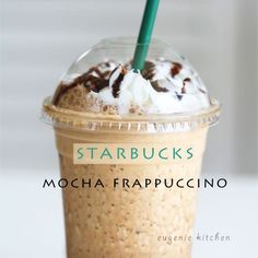 Forget about heading to Starbucks for coffee fix and make your own mocha Frappuccino at home! Today I'm making homemade Starbucks mocha Frappuccino. This is a copycat clone, not Starbucks' proprietary recipe. Save time, money, and most importantly yoursel Starbucks Drinks, Starbucks Caramel, Smoothie Drinks, Smoothie Recipes, Smoothie Cleanse, Juice Cleanse, Cleanse Detox, Cafeteria Menu, Coffee Recipes