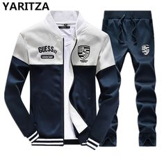 YARITZA Men s Sweatshirt Set Tracksuits Set Sports Hoodies Sets spring  winter Baseball jacket clothes for Men 9a8f98566dba2