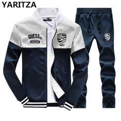 YARITZA Men's Sweatshirt Set Tracksuits Set Sports Hoodies Sets spring winter Baseball jacket clothes for Men Hoodies Sweatshirt
