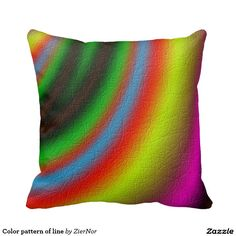 Color pattern of line pillow