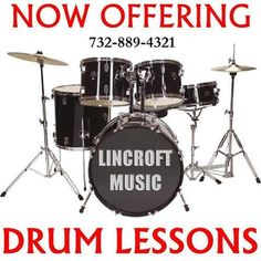Lincroft Music Now Offers Drum Lessons for Ages 6+ | 732-889-4321 EXCLUSIVE Macaroni Kid special offer: 1st Drum Lesson FREE when you mention Macaroni Kid, valid until March 31st.