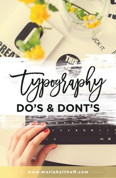 Understanding the Do's and Dont's of typography is one of the most important fundamentals in graphic design. Its imperative to follow these rules in order to look like a professional graphic designer. Are you breaking any of these design rules? Click to find out what they are!