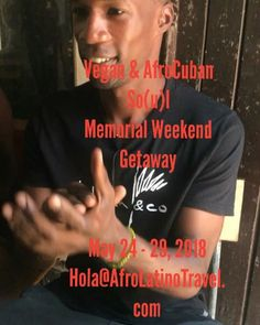 Early bird registration ends March 21st! Hola@AfroLatinoTravel.com to sign up!   Vegan  AfroCuban So(u)l Memorial Weekend GetAway May 24-29 2018 Havana  Matanzas  Varadero  Viñales  Guanabo  Regla Includes: -Roundtrip flight from select major cities -Accomodations -Cuban visa -Meals (with Vegan/Vegetarian options) -Yoga & Meditation Workshops -Vegan Workshop by @souliedelight -Salsa Class -Cuban Cooking Class -Yoruba Drum & Dance -Art Beats & Eats hosted by @raeruckus with live music by…
