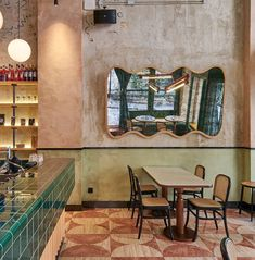 Many current trends are about nostalgia for times past and places far away … In this cafe in Hong Kong, @jja.bespoke.studio has used geometric marble floors and rattan chairs to create a space that evokes the old-fashioned coffee bars of Milan. Modern touches like the curved mirror make the design feel unique and stop it straying into ersatz territory.