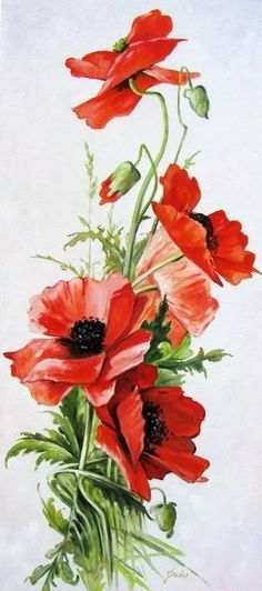 Фотография Source by Flower Images, Flower Art, Watercolor Flowers, Watercolor Paintings, Poppies Painting, Arte Floral, Red Poppies, Beautiful Flowers, Decoupage