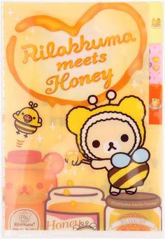 Rilakkuma bear bee small plastic file folder 3-pocket 1