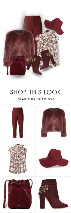 """The Spy Who Loved Him"" by onesweetthing ❤ liked on Polyvore featuring Chloé, Stine Goya, Vivienne Westwood Anglomania, Brixton, Mansur Gavriel and Aquazzura"