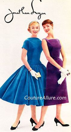 I've talked about my love of Jonathan Logan dresses  in the past.  While perusing an August issue of a 1955 fashion magazine geared toward y...