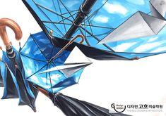 디자인고흐 기초디자인_우산, 종이비행기 #기초디자인 #기초디자인주제부표현 #우산그리기 #하늘우산 #개체묘사 #종이비행기그리기 Smart Design, Vintage Art, The Originals, Architecture, Drawings, Inspiration, Perspective, Image, Anime