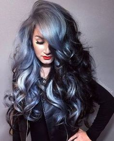 Resultado de imagem para short navy blue hair