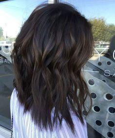 Balayage Black Hair Subtle - Dark Brown Highlights on Black Hair Balayage - Balayage for Black Hair