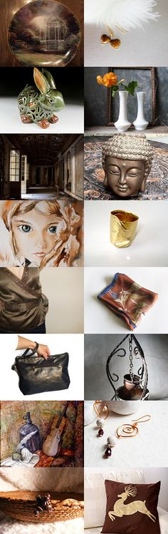 Golden Shadows by Rosa on Etsy--Pinned with TreasuryPin.com