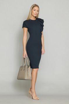 SA SANDRA ANGELOZZI   Femmedecarriere Dresses For Sale, Dresses For Work, Spring Collection, Timeless Design, No Frills, Luxury Branding, High Neck Dress, Blouse, Unique
