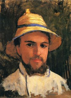 Gustave Caillebotte (French: 1848-1894) - Self-Portrait with Pith Helmet