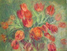 tulipes  50 X 65 cm