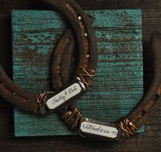 Rustic Cowboy Western Horseshoe Decor (Just saying i love, love, love this)