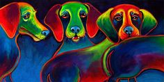 """""""HOT DOGS"""" Limited edition print on watercolor paper. Image size 7""""x14"""" $50"""