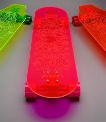 Skateboard  skaters  skateboarding  skateboard Glow n Zombie Green Deck  With Biohazard Flare LED Wheels  8a296fd1de9