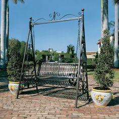 Amazon.com : Design Toscano Rockaway Garden Swing : Porch Swings : Patio, Lawn & Garden