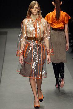 orange trimmed raincoat    Prada, Fall 2002 rtw
